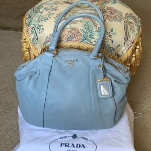 Authentic PRADA distressed Blue handbag